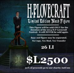 hp lovecraft to charity